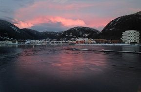 attractive namsos pink mountains