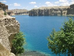 Blue lake in Afghanistan