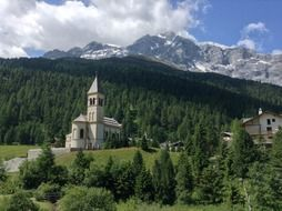 Church near the mountain In South Tyrol