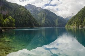 landscape of the jiuzhaigou