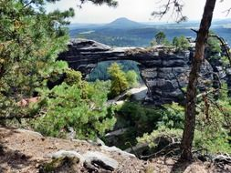 Scenic landscape in Bohemian Switzerland