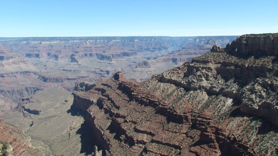 Grand Canyon on a clear sunny day