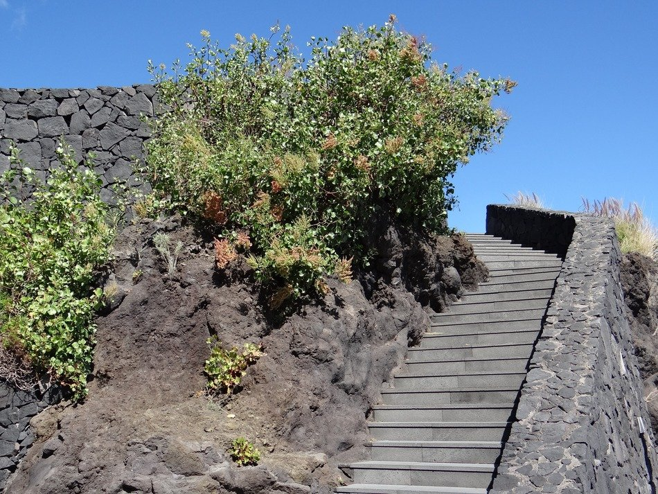 rock steps on the island of La Palma
