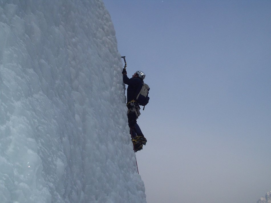 ice climbing alpinism frozen mountain