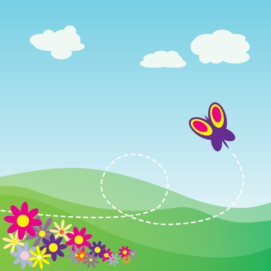 Landscape in spring clipart
