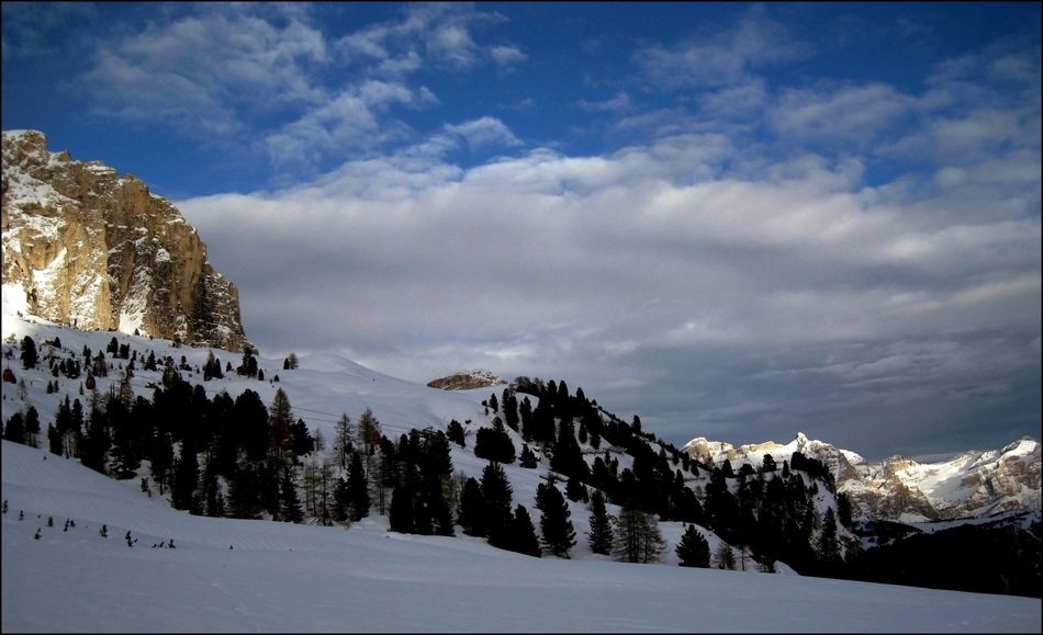 picturesque Alpine landscape in winter