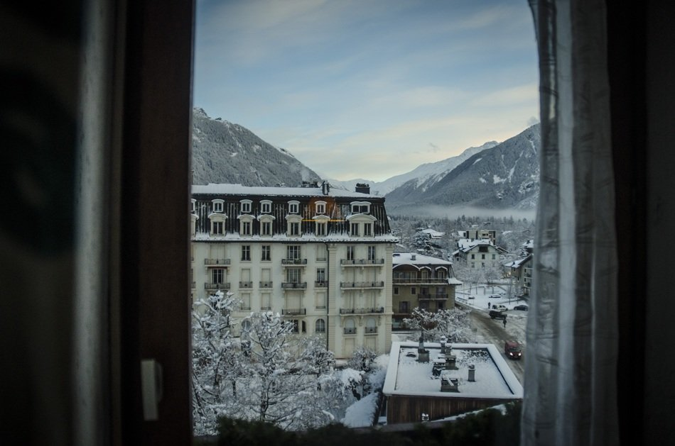 window view to Chamonix