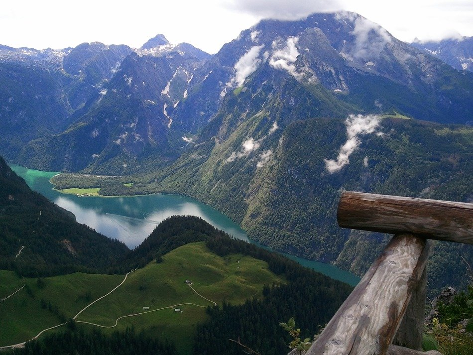 panorama of the picturesque mountains in bavaria