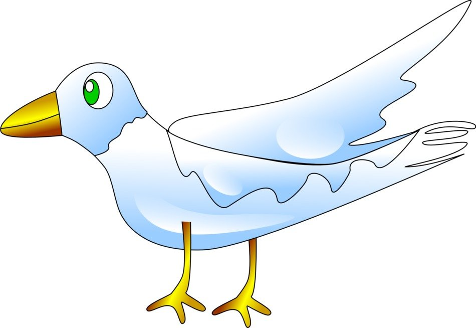 computer image of a white dove