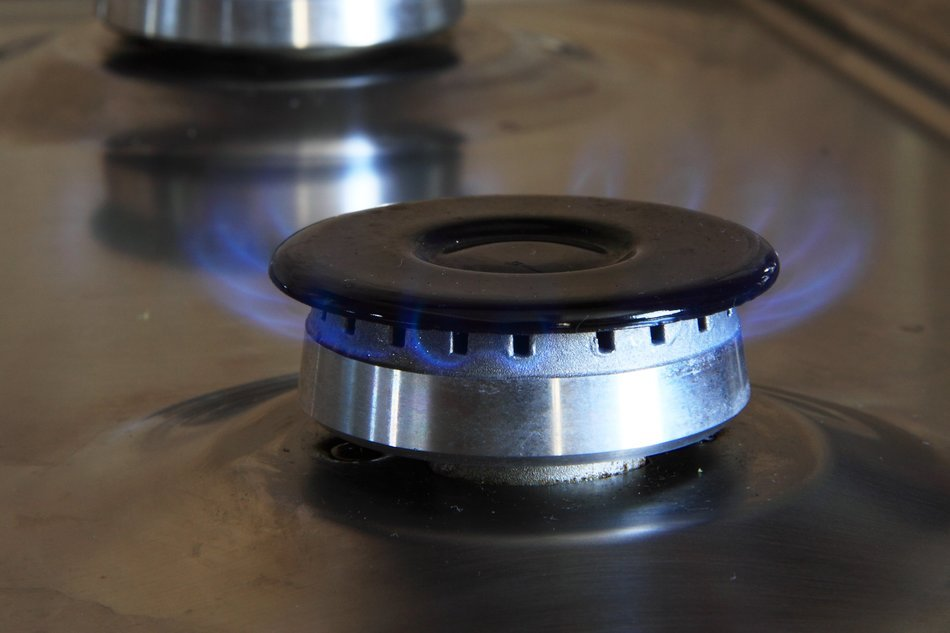 gas burner on the stove