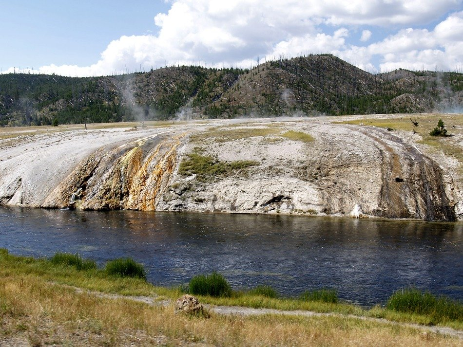 a river in Yellowstone National Park, Wyoming