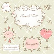 Doodle frames in French style N10