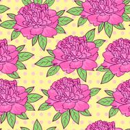 seamless pattern with peonies flowers
