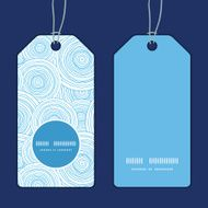 Vector doodle circle water texture vertical round frame pattern tags