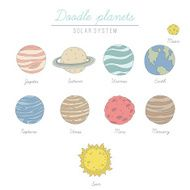 Doodle planets collection