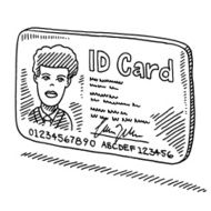 ID Card Drawing