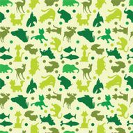 animal silhouettes seamless pattern