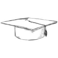 Vector Sketch Academic Hat