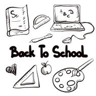 Back to school education icons cartoon set N17