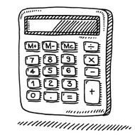 Office Calculator Drawing