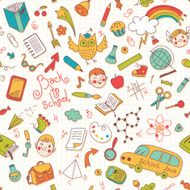 Back to school Vector seamless pattern N4