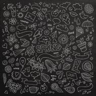 Nature spring hand drawn vector symbols and objects N2