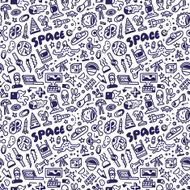 Space - seamless vector background