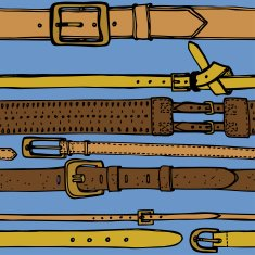 leather belts seamless pattern