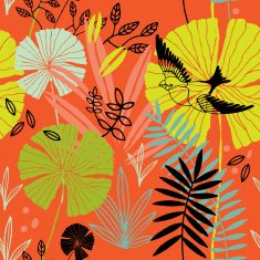 Exotic tropical plants pattern