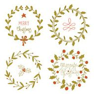 Christmas wreaths set N3