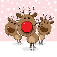 Reindeer with a Clown's Red Nose