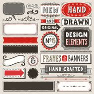 Hand Drawn Frames and Banners
