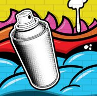 Spray Can and Grafitti