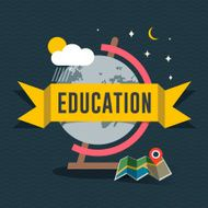 Education flat design concept for web and mobile services apps