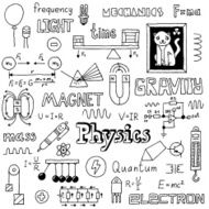 Physics Hand drawn Vector illustration Black and white N2