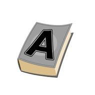 Letter A cover of book Old Edition with alphabetical icon N2