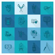 school and education icons N300
