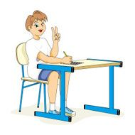 Health child student sitting correct posture N2