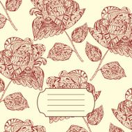 Notebook Cover with hand-drawn Doodle ethnic Flowers Pattern