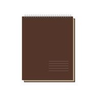 Brown Notepad Template isolated on white Background