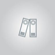 Row of binders icon vector illustration