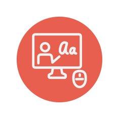 Online tutorial icon
