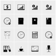 Black and white set of icons N3
