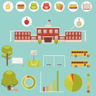 School Infographic - collection of design elements