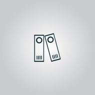 Row of binders icon vector illustration N2