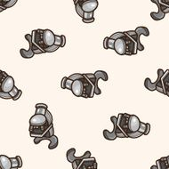 Microscope cartoon seamless pattern background