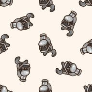 Microscope cartoon seamless pattern background N2