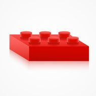 Isometric colorful plastic building block N2