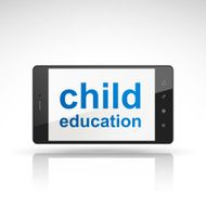 child education words on mobile phone N2