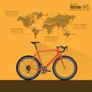 bicycle infographic vector N2